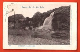 IBS-14 Recuerdo De Cordoba. Cascada Del Molino. Pioneer. Used In 1903 To Roubaix France - Argentine