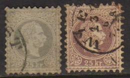 04802 Austria 38 + 38b François-joseph I U - 1850-1918 Impero