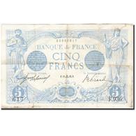 France, 5 Francs, 1905, 1912-09-11, KM:70, TB, Fayette:2.9 - 1871-1952 Anciens Francs Circulés Au XXème