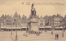 Brugge, Bruges, Standbeeld Breydel En De Coninck En Oude Huizen Der Groote Markt (pk34669) - Brugge