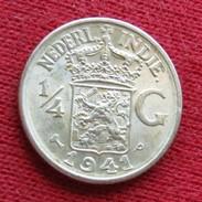 Netherlands India 1/4 Gulden 1941 P  Nederland Indies #3 - Monnaies