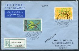 1966 Iceland Hredavatn Registered Aerogramme Scouts Europa - 1944-... Republic