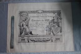 Diplome Du Conservatoire De Musique De Rennes 1922 - Diploma's En Schoolrapporten