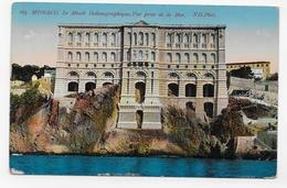 (RECTO / VERSO) MONACO - N° 165 - LE MUSEE OCEANOGRAPHIQUE - VUE PRISE DE LA MER - CPA NON VOYAGEE - Ozeanographisches Museum