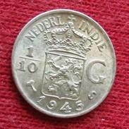 Netherlands India 1/10 Gulden 1945 S   Nederland Indies - Monedas