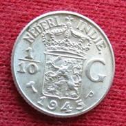 Netherlands India 1/10 Gulden 1945 P   Nederland Indies - Otros – Asia
