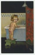Illustratore Colombo - Bambina Su Vasca Da Bagno - Non Viaggiata (epoca Anni '30) - Colombo, E.