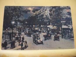 B5 2175 - 75 PARIS - LE BOULEVARD DE LA MADELEINE- 1907 -  (LA NUIT) TRES BELLE ANIMATION AUTOS  ATTELAGES - París La Noche