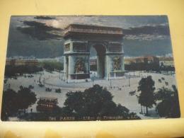 B5 2183 - 75 PARIS - L'ARC DE TRIOMPHE- 1907 -  (LA NUIT)  ANIMATION ATTELAGES TRAMWAY - Paris By Night