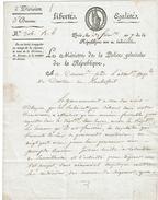 LBEL2- DOCUMENT SIGNE PAR DUVAL MINISTRE DE LA POLICE AN 7 DE LA REPUBLIQUE - Autographes