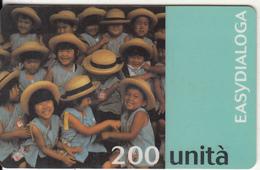 ITALY - Children, Easydialoga, Infostrada Prepaid Card 200 Units, Exp.date 31/12/99, Used