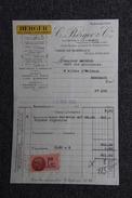 """Facture Ancienne -  BORDEAUX, BERGER Et Cie : """" Anisette BERGER """". - 1900 – 1949"""