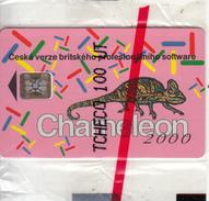 CZECH REPUBLIC - Chameleon, Telecom Praha Telecard, Chip SC5, 04/93, Mint