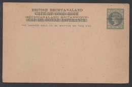 BRITISH BECHUANALAND - QV / ENTIER POSTAL CAPE OF GOOD HOPE SURCHARGE  (ref 6832) - Bechuanaland (...-1966)