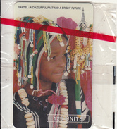 GAMBIA(chip) - Young Girl In Colourful Dress, Mint
