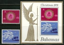 """Bahamas       """"Christmas 1978""""    Set & Souv. Sheet     SC# 444-45a   MNH** - Bahamas (1973-...)"""