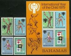 "Bahamas       ""Intl. Year Of The Child""    Set & Souv. Sheet     SC# 446-49a   MNH** - Bahamas (1973-...)"