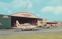 Hendersonville-Winkler Airport, North Carolina, Small Planes, Esso Fuel Station, Hangar, C1960s/70s Vintage Postcard - Aerodromi
