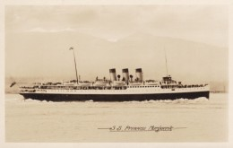 S.S. Princess Marguerite Canadian Steamship Pacific Ocean, C1910s/20s Vintage Real Photo Postcard - Paquebote