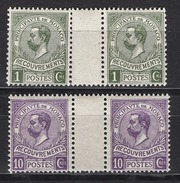 MONACO 1905 / 1919  / LOT EN PAIRES  N° 8 ET 9 -  Timbres Taxe NEUFS** /B44 - Taxe