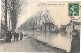 TROYES - 10 - Inondation Du 21/01/1910  - Débordement Du Canal Et Rue Des Vassaules - RARE - LYO87 - - Troyes