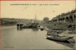 77 CHAMPAGNE-SUR-SEINE - Quai De Seine, à Saint-Mammès - (péniches) - Champagne Sur Seine