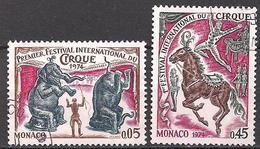 Monaco  (1974)  Mi.Nr.  1132 + 1133  Gest. / Used  (9ff05) - Gebraucht