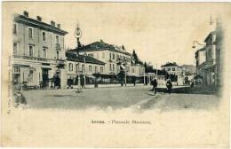 Arona (No), Piazzale Stazione, Animat... - Italië