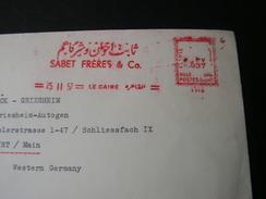 Egypt Cv. 1957 Freistempler , Selten - Lettres & Documents