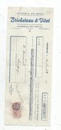 Lettre De Change ,épicerie En Gros , Bricheteau & Vitet , Mirebeau En Poitou , 1938 , 2 Scans ,  Frais Fr : 1.55 & - Bills Of Exchange
