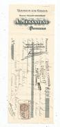 Lettre De Change ,mandat , Tissus , A. Menanteau , Poitiers , 1931 , 2 Scans ,  Frais Fr : 1.55 & - Bills Of Exchange