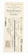 Lettre De Change ,mandat , Mercerie , Ch. Lapeyroux , Poitiers , 1915 , 2 Scans ,  Frais Fr : 1.55 & - Bills Of Exchange