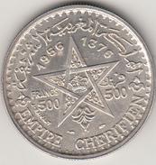 500 Francs, Mohamed V Protettorato Francese 1956 Grammi 22.50  Arg.900 Conservazione Spl - Marocco