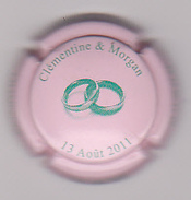 Capsule Champagne FAY Michel ( Nr ; Mariage CLEMANTINE ET MORGAN 2011 ) {S18-17} - Champagne