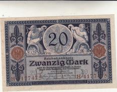 20 Zwanzig Mark Reichs Banknote 1915 FDS - 20 Mark
