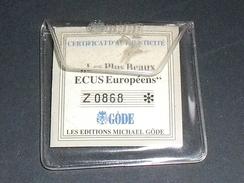GRECE / Ecu ,argent Massif 999/1000 , 40 G ,40 Mm,épreuve Tirage 9999 Série Complète    SUP - Tokens & Medals