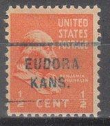 USA Precancel Vorausentwertung Preos Locals Kansas, Eudora 712