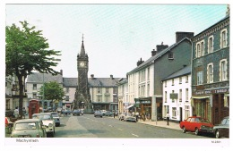 RB 1150 -  1981 Postcard - Red Lion & Telephone Box Machynlleth Montgomeryshire Wales - Montgomeryshire