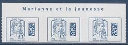 = Marianne Et La Jeunesse 3 TVP Europe -20g Neuf DataMatrix Ciappa Et Kawena Adhésif N°1176 Avec Haut Feuille Et Texte - 2013-... Marianne De Ciappa-Kawena