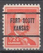 USA Precancel Vorausentwertung Preos Locals Kansas, Fort Scott L-1 TS