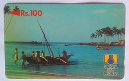 Sri Lanka Phonecard 2SRLB Rs 100 Fishermen, Beach