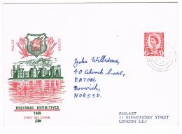 RB 1152 - 1969 GB 6 X FDC's - Regional Definitives - Cat £25+ - 1952-1971 Pre-Decimal Issues