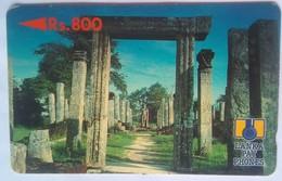 Sri Lanka Phonecard Rs800 Temple Ruins 2SRLE