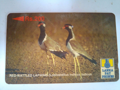 Sri Lanka Phonecard Rs 200 Lapwing 21SRLF