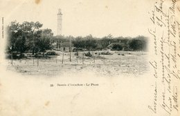 Arcachon Le Phare Circulee En 1902 Dos Simple Collection Faure N°33 - Arcachon