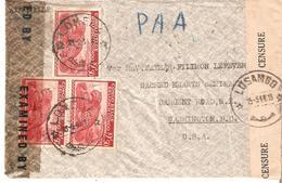 Guerre 40-45. N° 241 (11) LOMELA 25/2/1944 S/L. V. Washington. Double Censure De LUSAMBO Et US. TB.