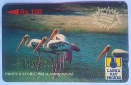 Sri Lanka Phonecard Rs 100 Stork 29SRLC