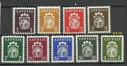 LETTLAND Latvia 1940 = 9 Werte Aus Michel 281 - 291 Incl Mi 291 Y ! MNH - Lettonie