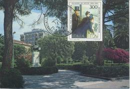 ITALIA - FDC MAXIMUM CARD 1984 - GIUSEPPE DE NITTIS - ARTE - ANNULLO SPECIALE - Maximumkarten (MC)