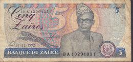 Zaire - 50 Zaires (17-11-1982) BA 1329103 F (2 Scans) - Zaire